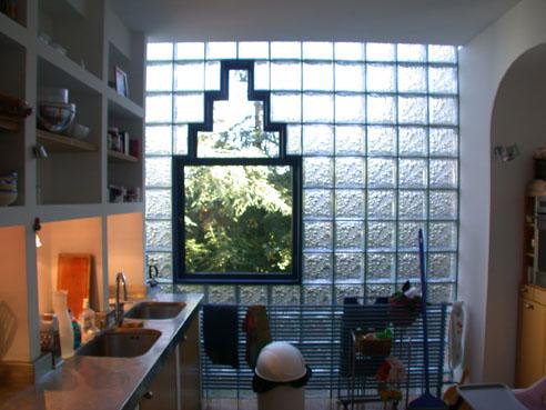Peinture de cuisine cuisine mur verre or peinture de cuisines - Brique de verre cuisine ...